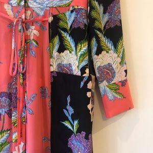 Diane Von Furstenburg silk floral maxi dress